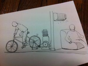 エアコン自転車