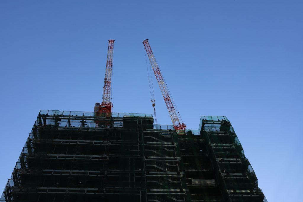 ビルの建設中